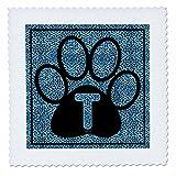 3dRose QS 25927_ 1Buchstabe T Blau Cheetah Print Katze