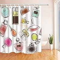 """Las niñas decoración ducha cortinas por gohebe tipo de perfume mano dibujo passtel pintura baño cortina de 71x 71"""""""