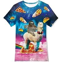 RAISEVERN Divertente Unisex Kids 3D Stampato T-Shirt Casual Tops Tees Cool Manica Corta per Teenager Ragazzi Ragazze 6…