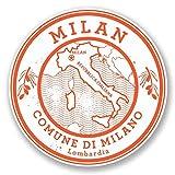 2 x 10cm/100 mm Milan Italie Autocollant de fenêtre en verre Voiture Van Locations #6043