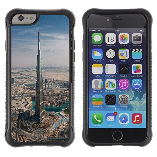 Graphic4You Burj Khalifa Skyscraper Dubai Postkarte Ansichtskarte Design Shockproof Anti-Rutsch Weichen Hülle Case Tasche Schutzhülle für Apple iPhone 6 / 6S Design #8