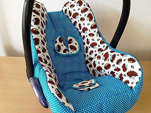 Atelier MiamMia Kindersitz Bezug, Babysitzbezug, Babyschale Bezug Neu für Maxi Cosi City, Pepple, Cabrio Fix, Priori, Pearl, Safety One, Hauck Zero, Recaro Privia, Römer King, Baby Safe, Cybex Anton,