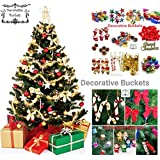 Decorative Buckets:Christmas Decorations : Set Of 50 Pcs Christmas Tree Ornament Assorted Pack
