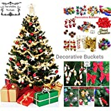 #3: Decorative Buckets:Christmas Decorations : Set Of 50 Pcs Christmas Tree Ornament Assorted Pack
