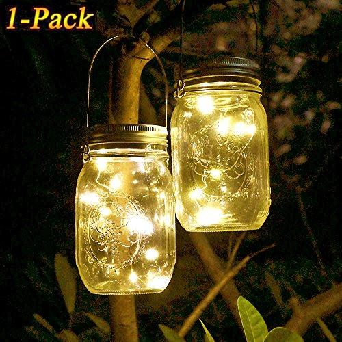 t, WarmweißWasserdichte LED Einweckglas Garten Hängeleuchten, Solarlampe Weckglas Fee String Lichter für Party,Weihnachtsferien, Hochzeitsdekoration (Mason Jar Tags)
