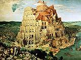 Kunstdruck/Poster: Pieter Brueghel der Ältere Turmbau zu Babel - hochwertiger Druck, Bild, Kunstposter, 55x40 cm