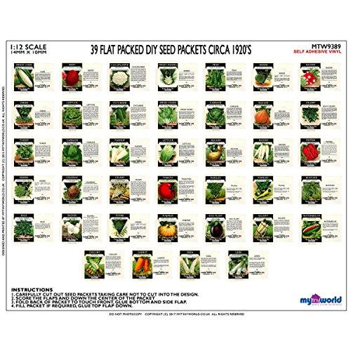MyTinyWorld Ensemble de 39 Maison de poupées miniature sachets de graines (SPS10)