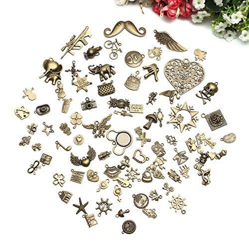 0f8686d70ccc ARTISTORE 100 piezas aleación colgantes mezclados dijes para la fabricación  de joyas y artesanía