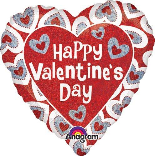 Amscan International 2986001Sweet Hearts Holografische Standard Folie Ballon