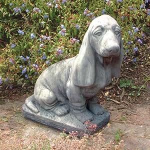statues sculptures online grande statue chien basset jardin. Black Bedroom Furniture Sets. Home Design Ideas