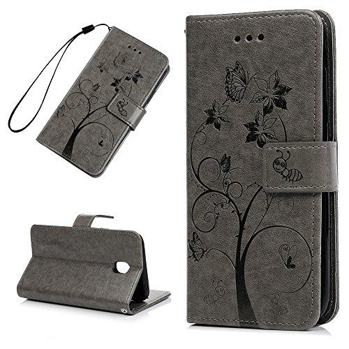 MAXFE.CO Schutzhülle Tasche Case für iPhone 6 Plus/6S Plus TPU Silikon Cover mit Diamanten Etui Protective Schale Bumper Silber Grau
