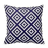 Navajo Geometrische Muster Cobalt Blau Kissen