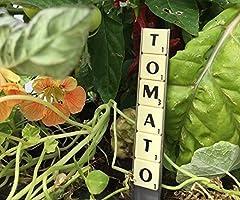 Scrabble Tags Labels For Garden Plants