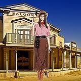 Kostümplanet® Cowgirl Kostüm Damen + extra Halstuch Cowgirlkostüm Cowboy Kostüm Damen Größe 36/38 -