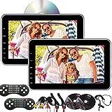 Doble 10.1 Pulgadas Tablet-Style Soporte Coche reposacabezas Multimedia Reproductor de DVD CD IR FM Transmisor HDMI...