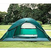 Aluminiumpfosten Doppelstock Outdoor-Zelt Campingzelt regen und Schnee vier Jahreszeiten mit Schneefang Berg Zeltkampieren Paar
