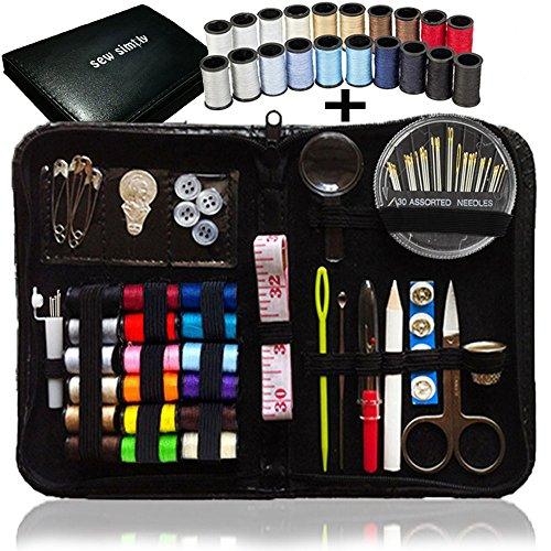 Kit cucito - 38 Bobine del filetto - BONUS 20 colori più utili di fili, set cucito, più di 80 accessori per la Premium cucire, sewing kit