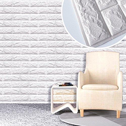 10 Blatt 3D Stereo Aufkleber, SUNKAX 60x60cm DIY Wand Aufkleber  Wasserdichter Wand