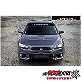 Mitsubishi lancer plus Blendstreifen 130cm Sonnenschutz Scheibe Aufkleber Frontscheibe Aufkleber Tuning Scheibe Lack TYP-MRS292 `+ Bonus Testaufkleber