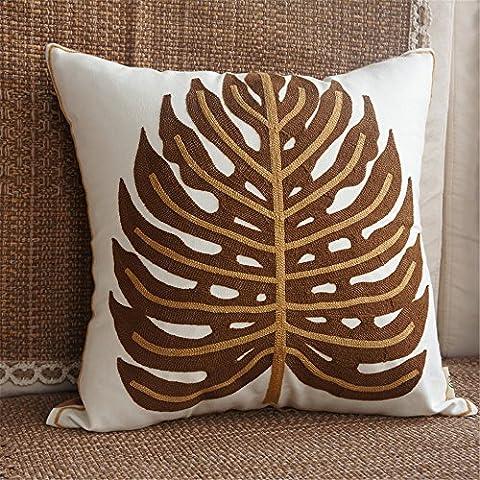 Buttare decorativo Federe Fodera per cuscino Home divano BedChina vento ricami artigianali cuscino cuscino 45cm*45cm,45cm*45cm, foglie di curry - Foglie Di Curry