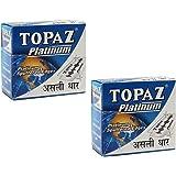 Topaz Platinum Blades (5 Packs of 10 Blades Each, Total 100 Blades) - Pack of 2
