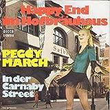 March, Peggy / Happy End Im Hofbräuhaus / In Der Carnaby Street / Bildhülle / Decca D 29014 / Deutsche Pressung / 7 Zoll 17cm Vinyl Single Schallplatte SP /