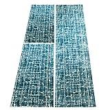carpet city Bettumrandung Flachflor-Teppich Polyester Soft modern Blau Hell-/Dunkel-Effekt