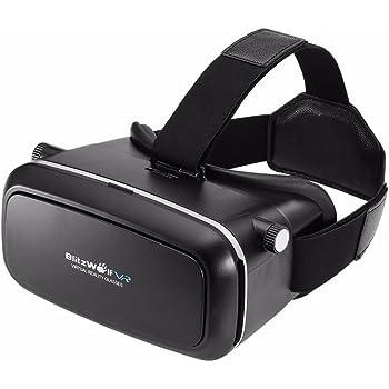 Occhiali 3D Virtuali VR, BlitzWolf VR Box Visore VR per Giochi/ Film per iPhone, Samsung, ecc (Compatibile con 3,5-6 Pollici Smartphone)