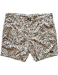FENDI ROMA short pantaloncini bermuda in cotone uomo FXB114 6HA F0VBL  bianco nero beige TG. 6d3db80345e9