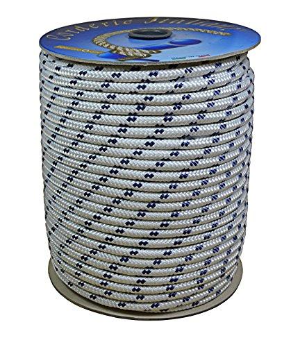 corderie-italiane-006006022-treccia-nautica-6-mm-100-metri-bianco-con-segnalino-blu