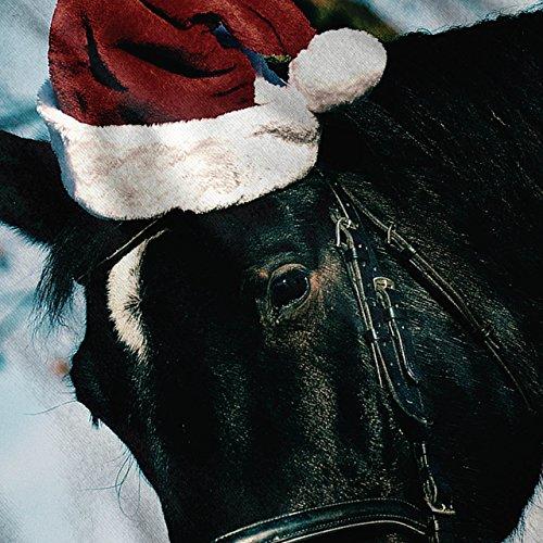 Festlich Pferd Weihnachten Urlaub Damen Schwarz S-2XL Muskelshirt   Wellcoda Weiß