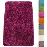 Badematte Lasalle 60 x 90 cm in Lila Premium Badvorleger 1200 g/m² - weitere Farben & Größen wählbar