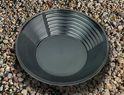 Goldwaschpfanne von Estwing aus schwarzem Kunststoff, Durchmesser: 36 cm – Gold Pan by Estwing, black plastic, diameter: 36 cm. - 2