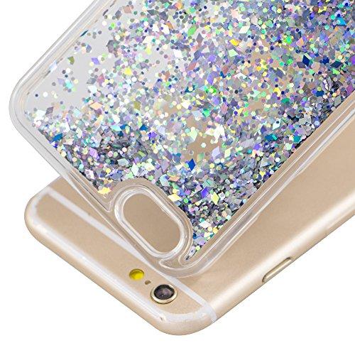 iPhone 6S Plus Coque Slim,iPhone 6S Plus Bling Diamant Clear Silicone Etui Housse Coque,iPhone 6S Plus Case Anti chock Plastic Mirror Liquide Coque Etui Case Cover pour iPhone 6 Plus,iPhone 6S Plus Pl Diamonds Liquid 4