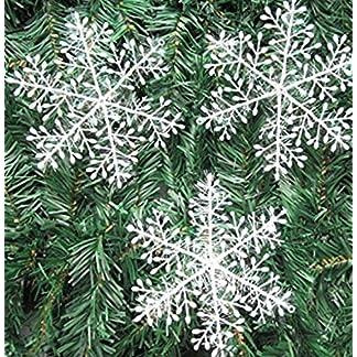 20 Paquetes con 60 Piezas De Copos Nieves para árbol De Navidad Colgantes Adornos cm Blanco Hogar y Cocina