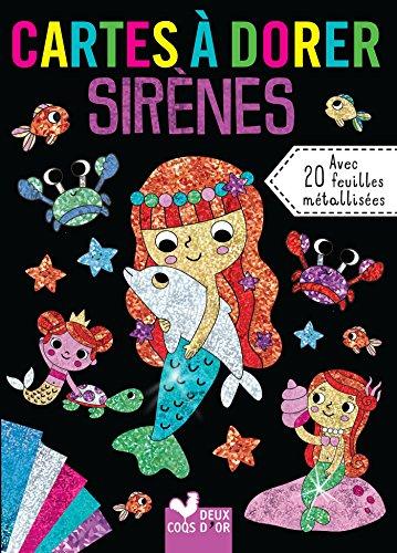 Cartes à dorer - Sirènes par