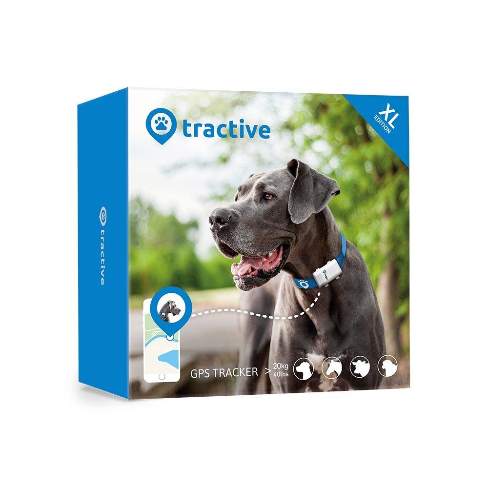 Tractive Localizador GPS XL para perros – batería dura hasta 6 semanas, rango ilimitado