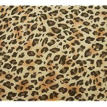 """Leopardo Impreso Confección De Tela 44 """"De Ancho De Costura Artesanal Del Georgette Por El Patio"""