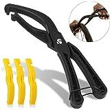 TAGVO Bike Reifenheber, Arbeitssparende Fahrradreifenreparaturwerkzeuge Fahrradreparaturwerkzeug mit rutschfestem Griff für Rennrad Mountainbike, schwarz
