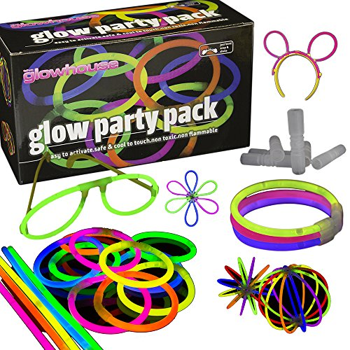 100 Glow Stick Party Pack - Premium Quality - Glowhouse UK Branded