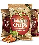 Tomaten Gemüse Chips 3er Probierset (3x 30g) aus getrockneten Tomaten I Leicht, knusprig und knackiger Snack mit leckerer Würzung in 3 Geschmacksrichtungen I Vegan, Glutenfrei Low Carb