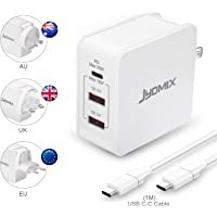 JYDMIX USB C PD Charger 30W, 3-Port Universal Travel Charger with USB-C Power Delivery, USB QC3.0 Fast Charge Worldwide…