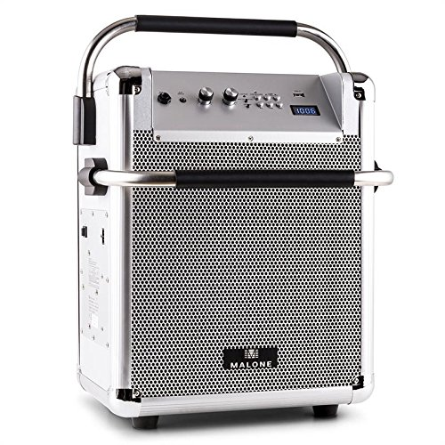 Malone Rock Fortress PA-Anlage mobiler PA-Lautsprecher (50 Watt RMS, Bluetooth, MP3-fähiger USB-Port,...