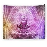KaO0YaN Wandteppich, Wandtuch, Tapestry, Tagesdecke,Indian Wall Hanging, Bed Sheet, Comforter Picnic Beach Sheet, Yoga, Asana, 150x130cm