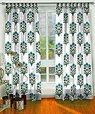 #5: Ocean Homestore 2 curtain set pure cotton semi transparent window & Door curtain,Size- 42x90 inch, 3.5 x 7.5 feet
