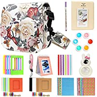 Brappo 13 Piece Accessories Bundles Set for Fujifilm Instax Mini 8/8+/9 Instant Film Camera (Case/Mini Album/Close-up Selfie Lens/Colors Filters/Frames/Stickers), Rose