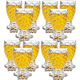 King International Stainless Steel 100% Crystal Clear Pineapple Shaped Whiskey Glasses | Drinking Glass | Set Of 12 Pieces| 250 Ml Each