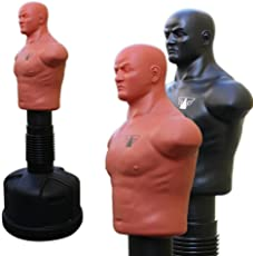 FOX-FIGHT Box Dummy Körper Torso Höhenverstellbar 153-178cm MMA Trainer Standboxtrainer Puppe