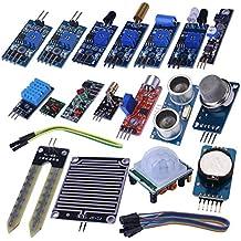 Kuman 16 in 1 Kit di Sensori a moduli confezione di apprendimento per Arduino UNO R3 Mega2560 Nano Raspberry Pi K62