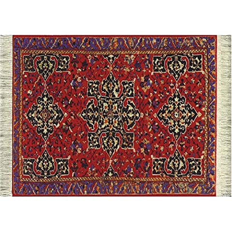 Lextra (Ruby Turkish Star Ushak), Mouserug, Red, Black and Blue, 10.25 X 7.125 Inch, One (MRT-1)